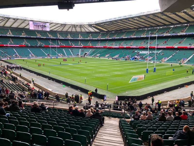 Seating view for Twickenham Stadium Section L19 Row 39 Seat 11