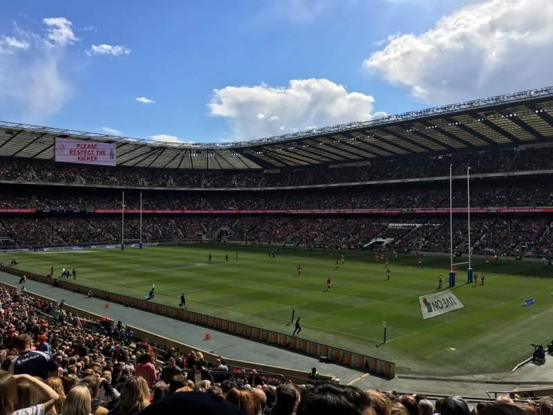 Seating view for Twickenham Stadium Section L20 Row 37 Seat 31