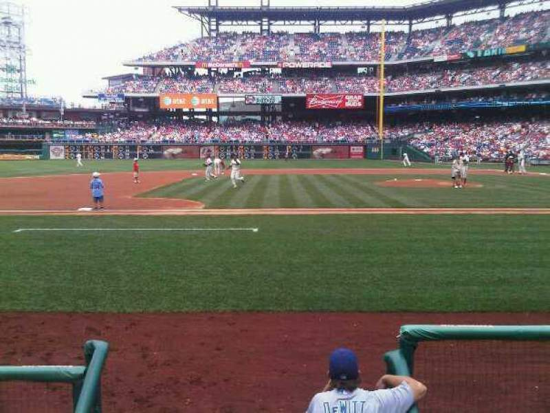 Seating view for Citizens Bank Park Section 130