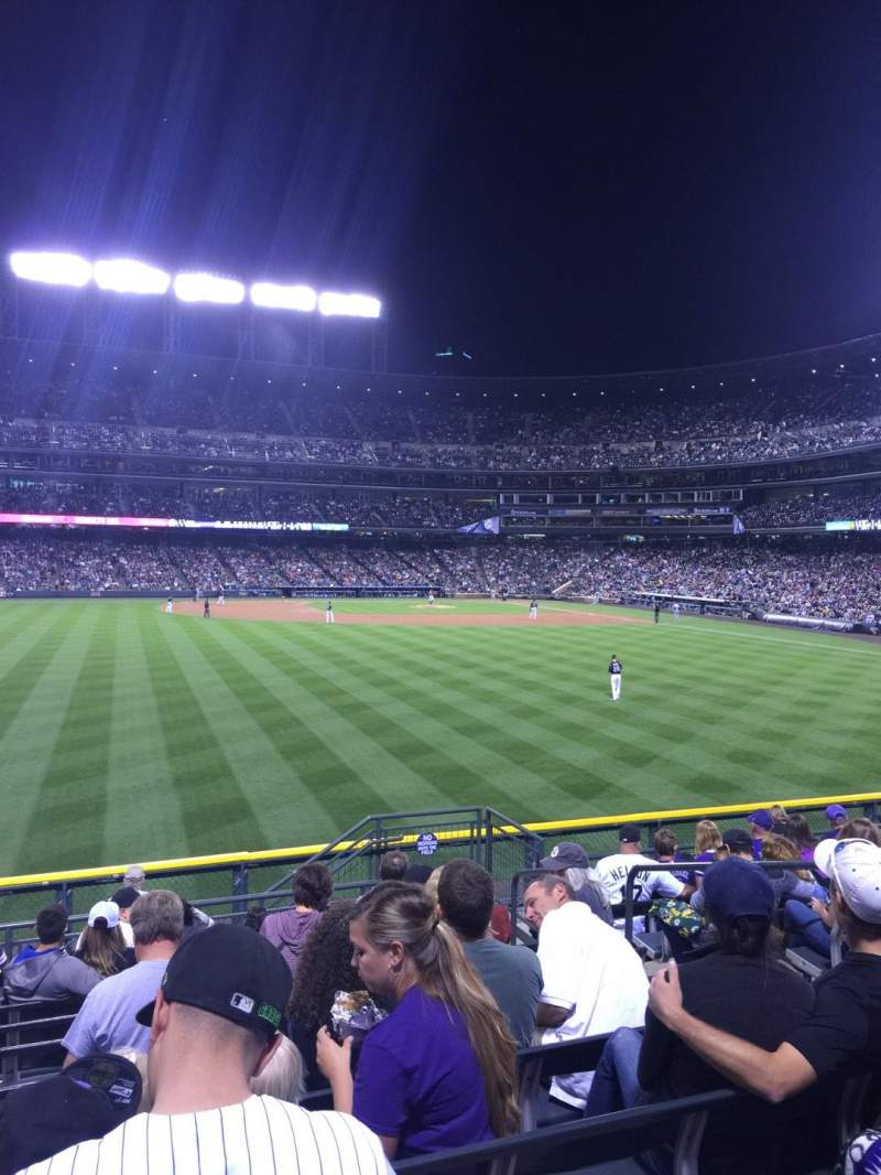 Seating view for Coors Field Section 155 Row 11 Seat 7