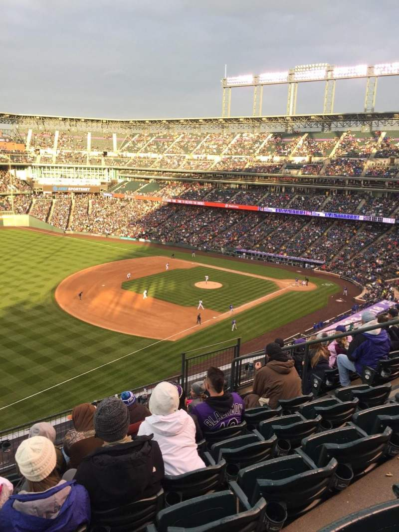 Seating view for Coors Field Section L345 Row 7 Seat 9