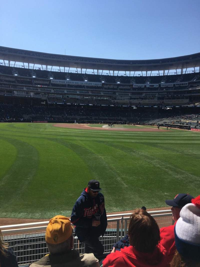 Target Field, section: 130, row: 5, seat: 21