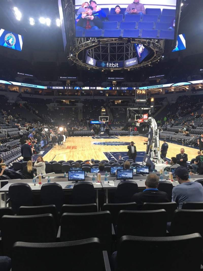 Target Center, section: 122, row: A, seat: 6