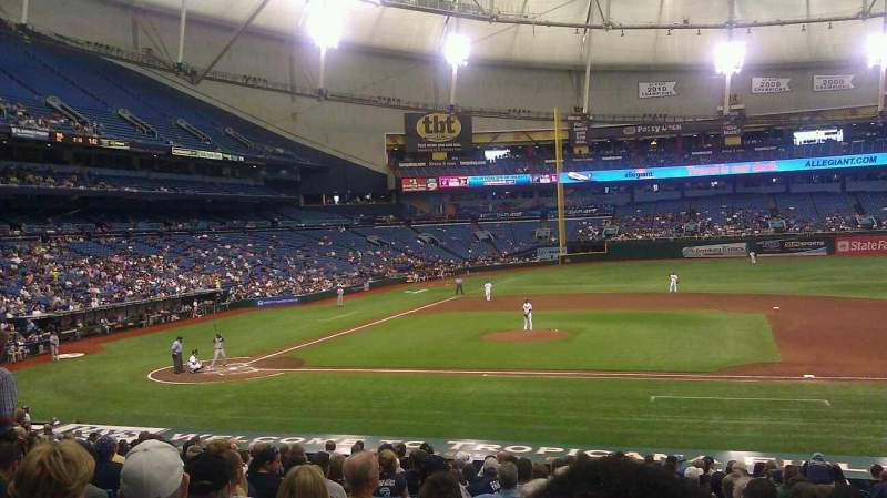 Seating view for Tropicana Field Section 116 Row GG Seat 9
