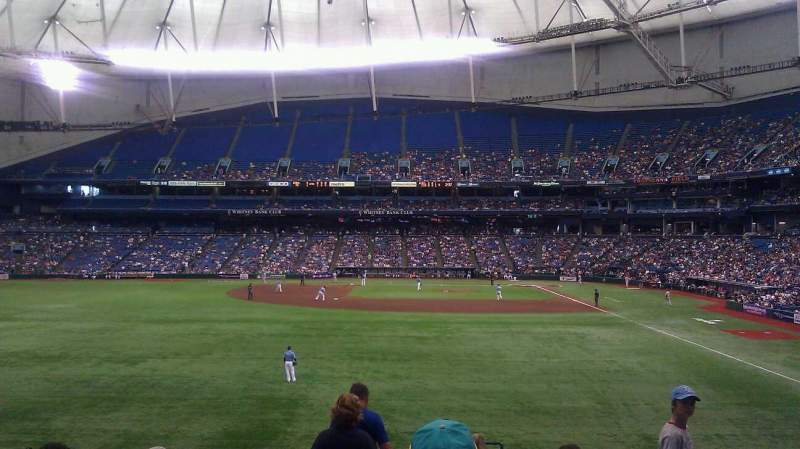 Seating view for Tropicana Field Section 143 Row JJ Seat 24