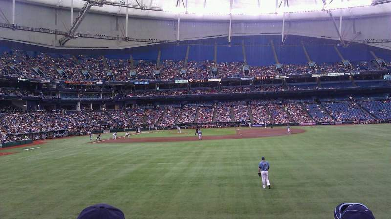 Seating view for Tropicana Field Section 144 Row W Seat 12