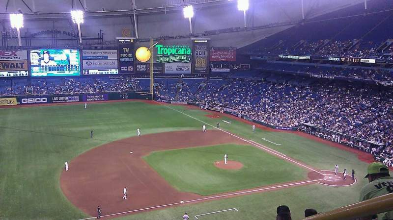 Seating view for Tropicana Field Section 315 Row h Seat 18