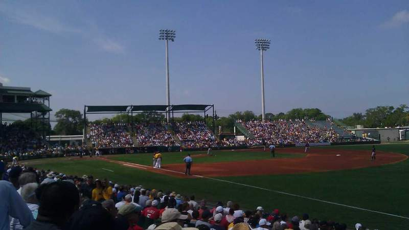 Seating view for LECOM Park Section GRD 20 Row 5 Seat 7