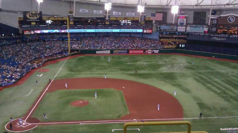 Seating view for Tropicana Field Section 310 Row Q Seat 24