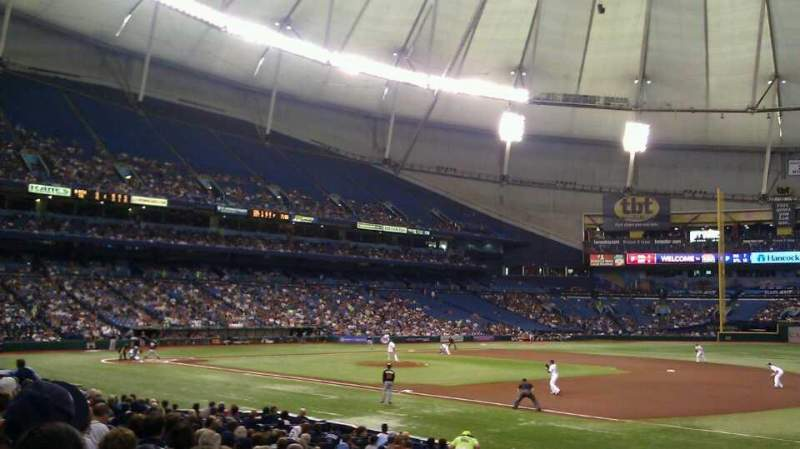 Seating view for Tropicana Field Section 126 Row U Seat 10