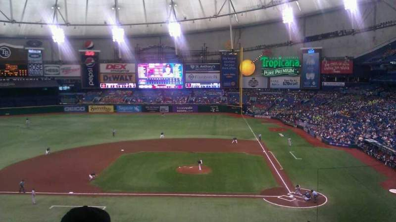 Seating view for Tropicana Field Section 209 Row F Seat 22