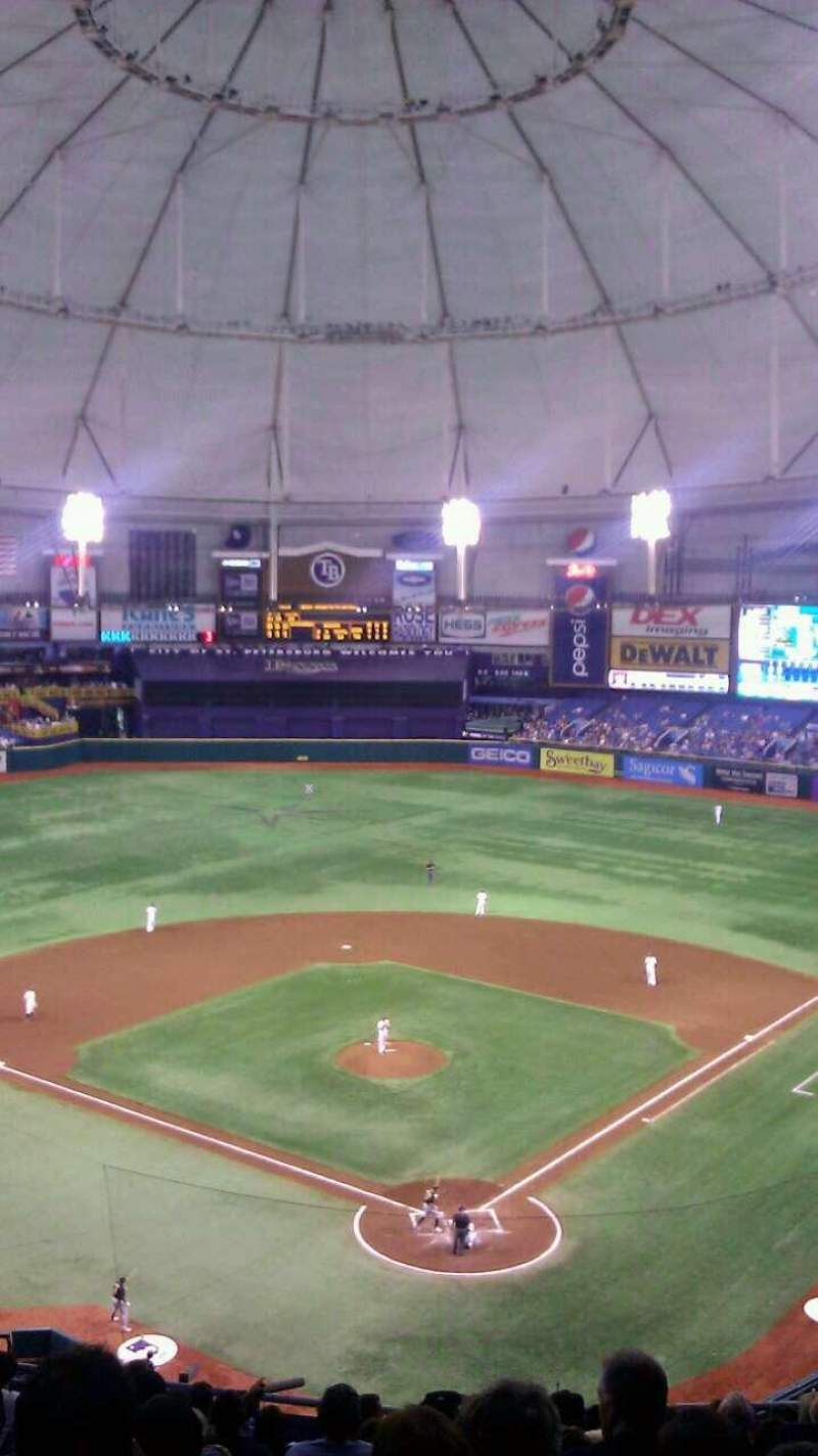 Seating view for Tropicana Field Section 301 Row N Seat 9