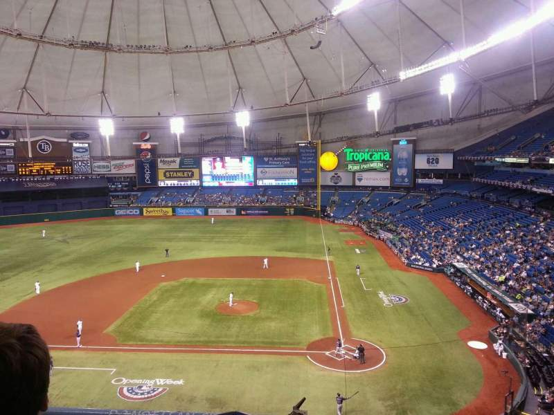 Seating view for Tropicana Field Section 307 Row B Seat 4