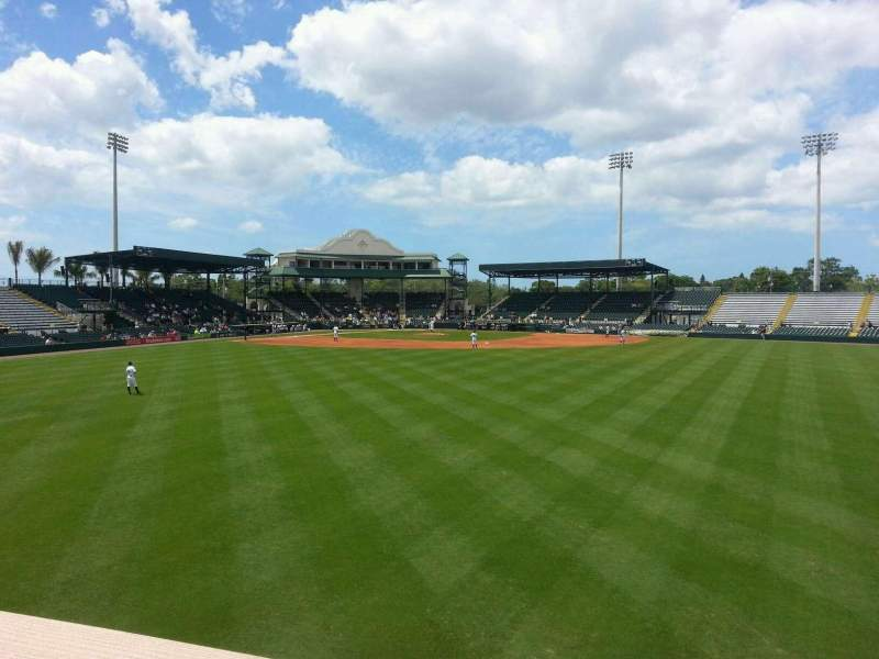 Seating view for McKechnie Field Section Center Field Row Deck