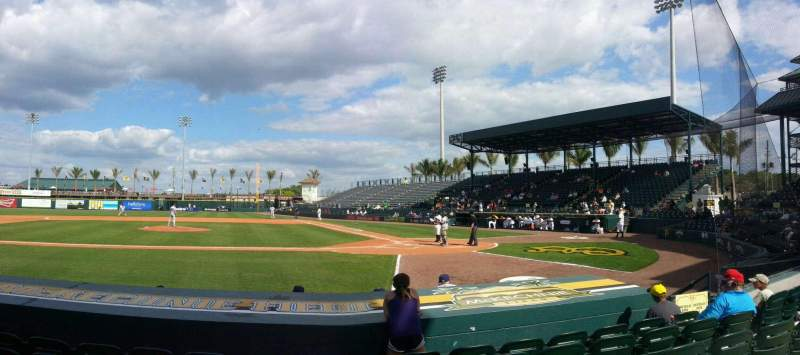 Seating view for LECOM Park Section Box 7 Row E Seat 2