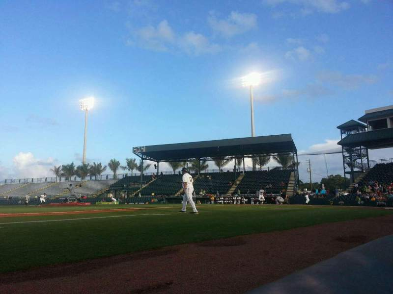 Seating view for McKechnie Field Section Box 11 Row 1 Seat 14