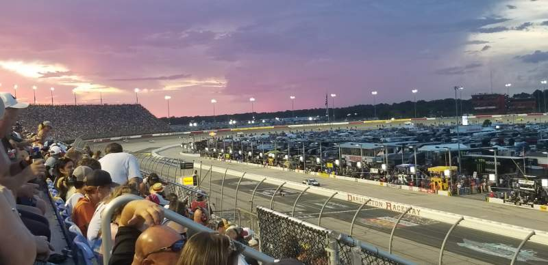Seating view for Darlington Raceway Section Tyler Tower F Row 5 Seat 17