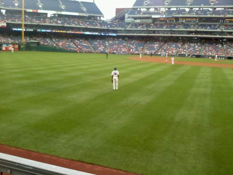 Seating view for Citizens Bank Park Section 142 Row 1