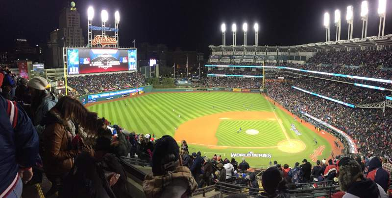 Seating view for Progressive Field Section 559 Row J Seat 18