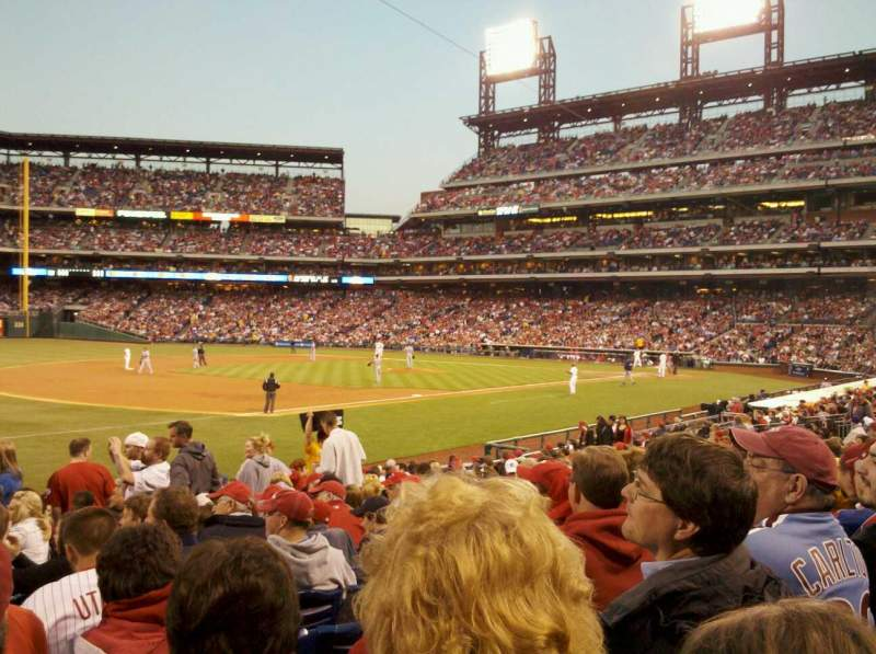 Seating view for Citizens Bank Park Section 135 Row 21 Seat 8