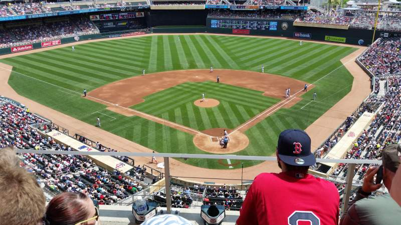 Seating view for Target Field Section 216 Row 3 Seat 6