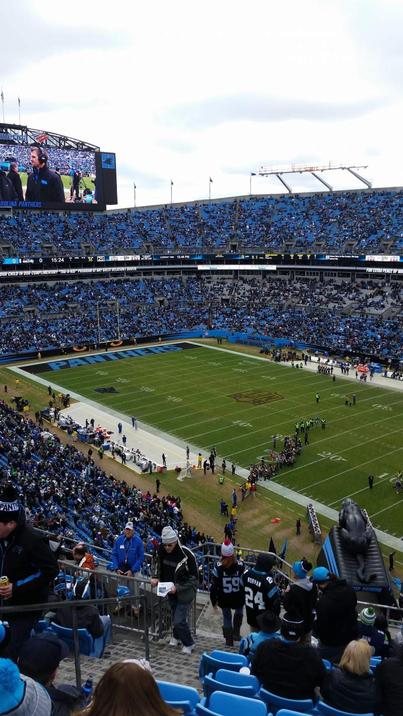 Seating view for Bank of America Stadium