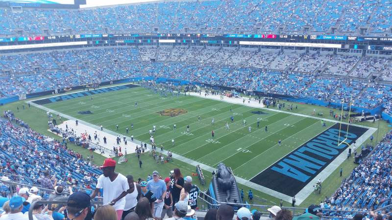 Seating view for Bank of America Stadium Section 508 Row 8 Seat 16