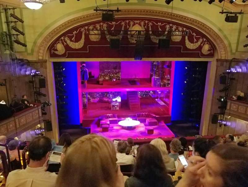 Seating view for Booth Theatre Section Mezzanine C Row G Seat 102