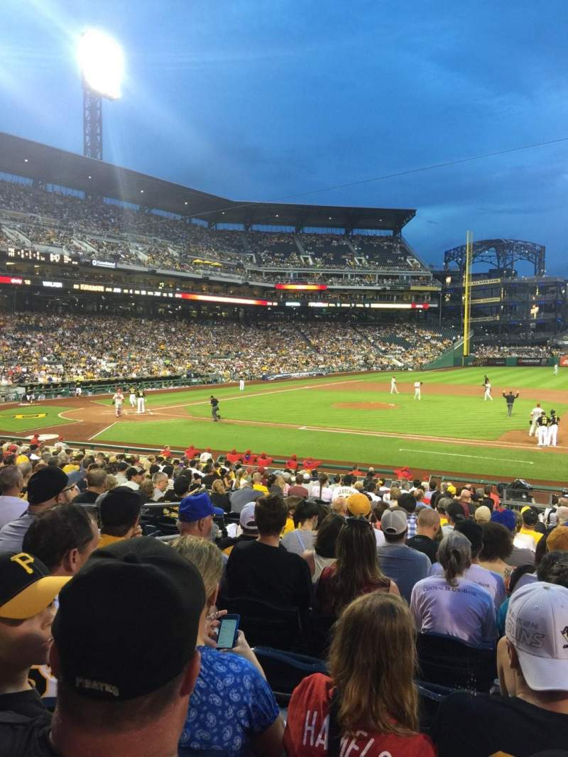 Seating view for PNC Park Section 109 Row N Seat 11