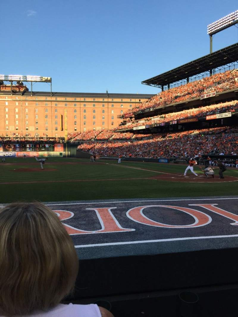 Seating view for Oriole Park at Camden Yards Section 50 Row 2 Seat 4