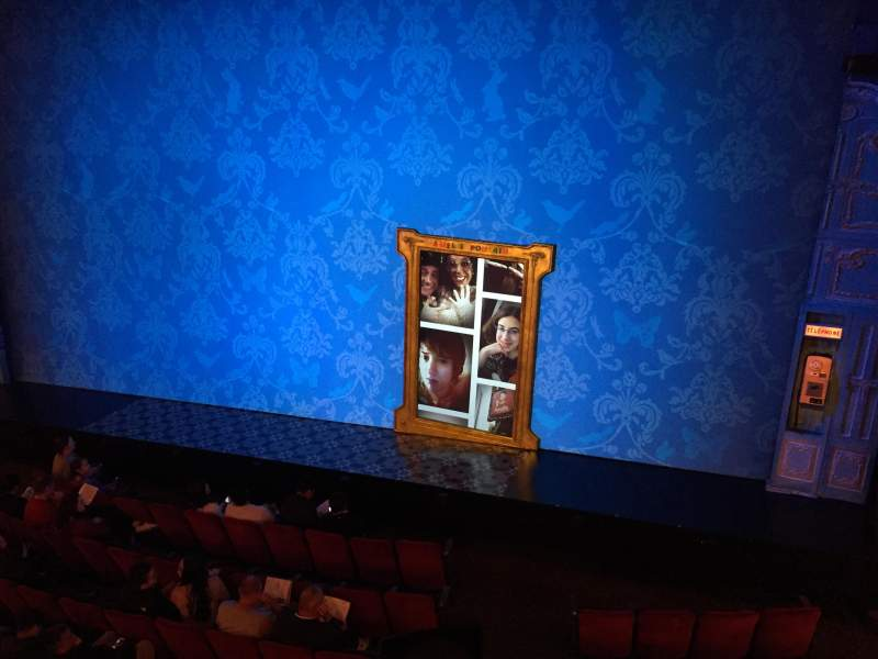 Seating view for Walter Kerr Theatre Section Mezzanine R Row A Seat 6