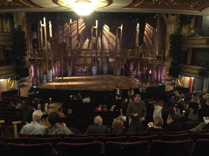 Seating view for Richard Rodgers Theatre Section Orchestra C Row S Seat 113