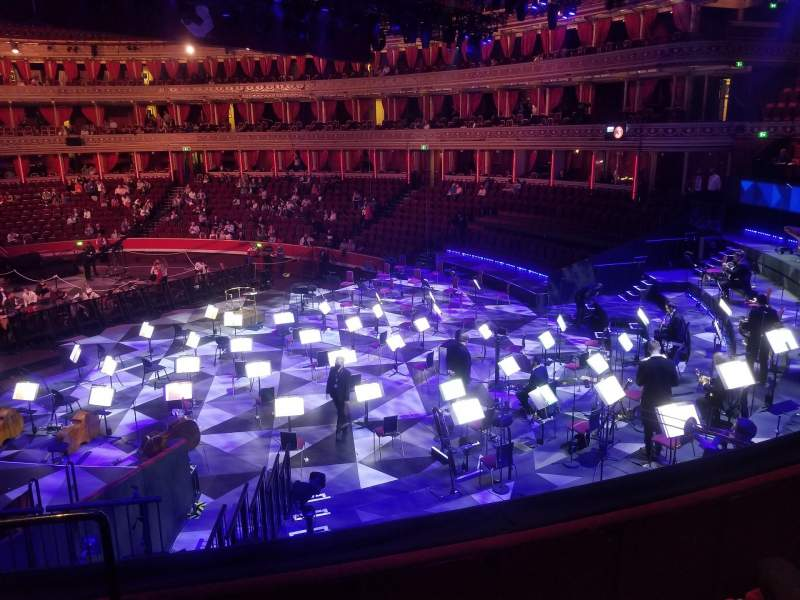Seating view for Royal Albert Hall Section West Choir Row 1 Seat 114