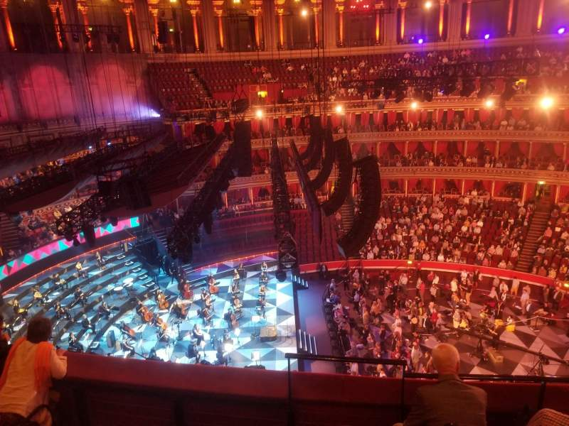 Seating view for Royal Albert Hall Section Rausing Circle Q Row 3 Seat 24