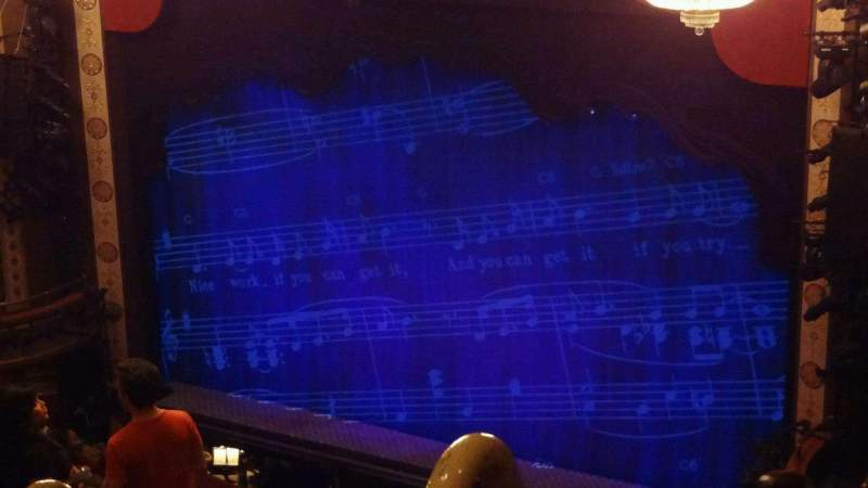Seating view for Imperial Theatre Section Rear Mezzanine 1 Row G Seat 2