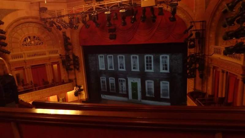 Seating view for Ethel Barrymore Theatre Section Rear Mezzanine Row B Seat 16
