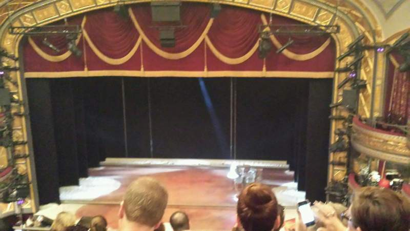 Seating view for Richard Rodgers Theatre Section Rear Mezzanine Row A Seat 104