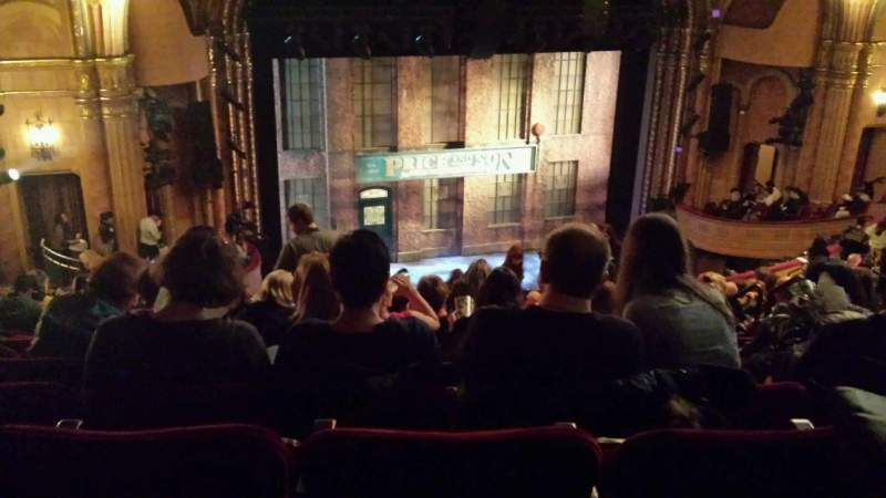 Seating view for Al Hirschfeld Theatre Section Mezzanine Row S Seat 15