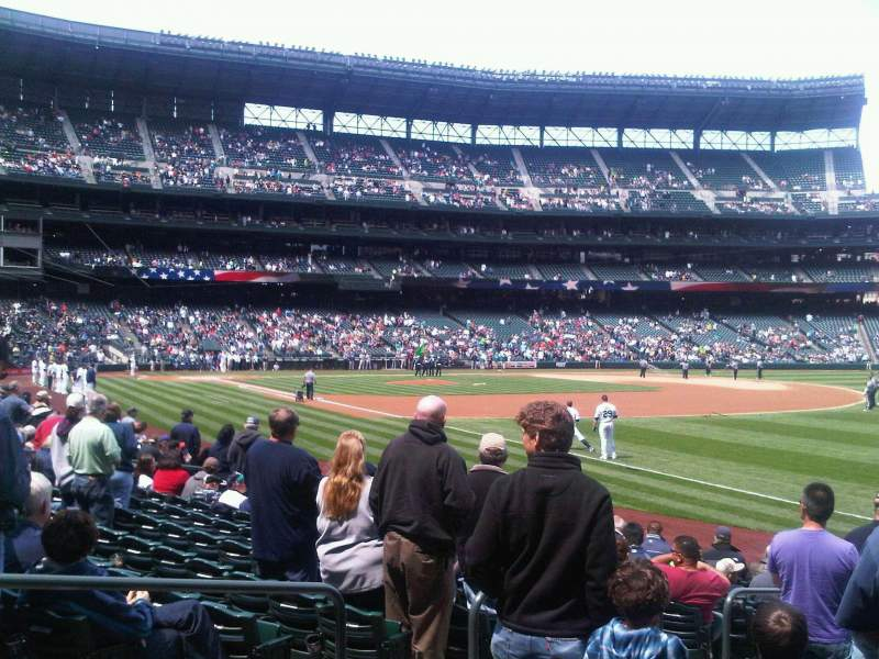Seating view for T-Mobile Park Section 115 Row 14 Seat 8