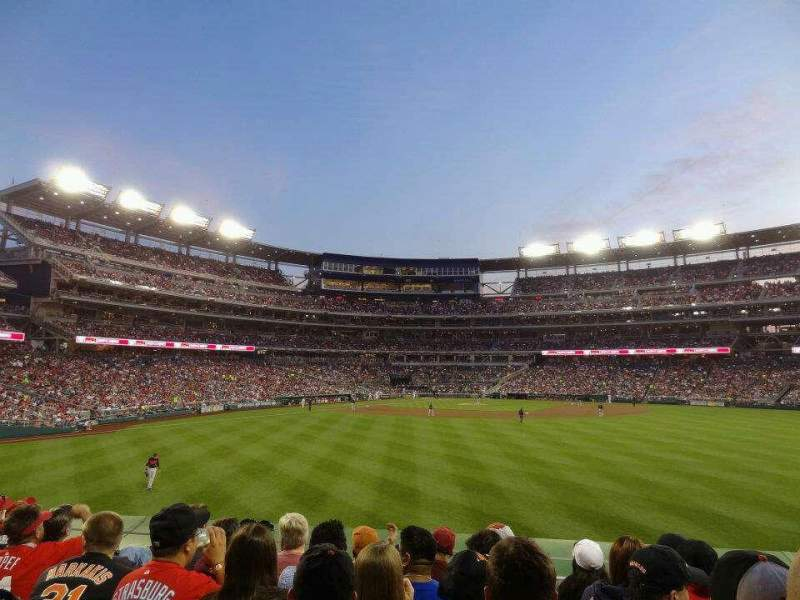 Seating view for Nationals Park Section 141 Row F Seat 5