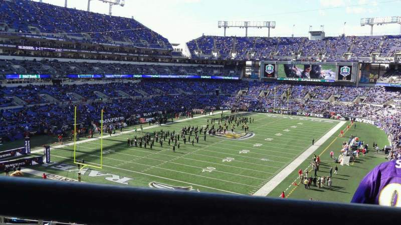 Seating view for M&T Bank Stadium Section 209 Row 9 Seat 11