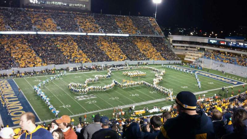 Seating view for Mountaineer Field Section 202 Row 25 Seat 105