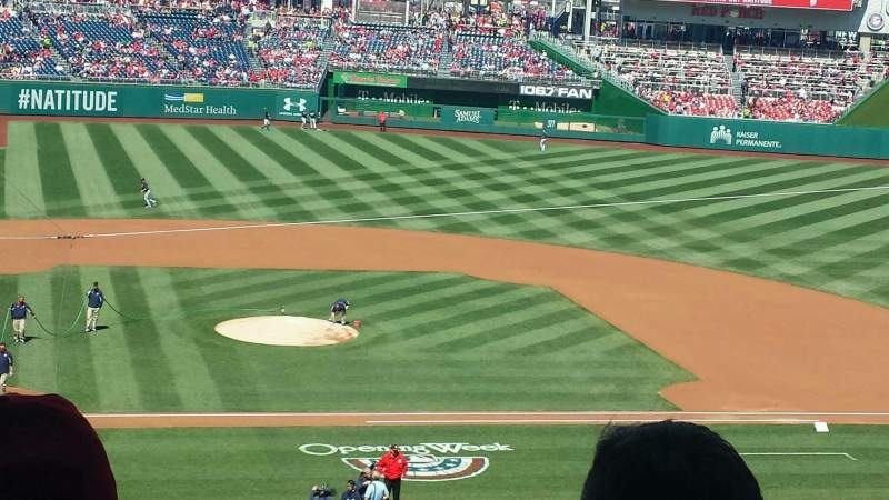 Seating view for Nationals Park Section 217 Row E Seat 5