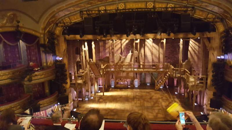 Seating view for Richard Rodgers Theatre Section Front mezzanine c Row E Seat 107