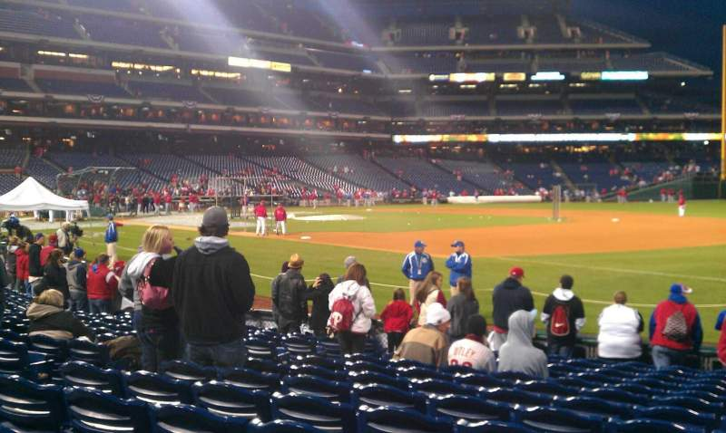 Seating view for Citizens Bank Park Section 112 Row 13 Seat 10