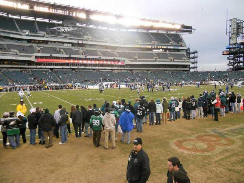 Seating view for Lincoln Financial Field Section 117 Row 2