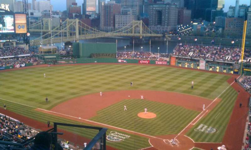 Seating view for PNC Park Section 318 Row M Seat 16