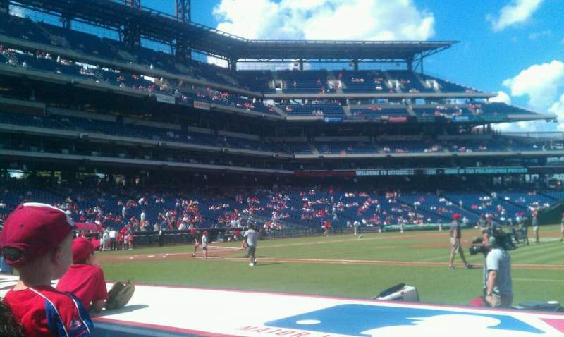 Seating view for Citizens Bank Park Section 116 Row 3 Seat 5