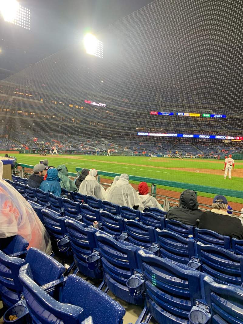 Seating view for Citizens Bank Park Section 115 Row 6 Seat 1