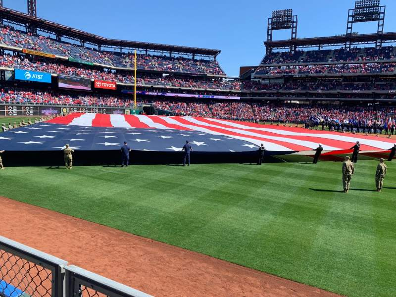 Seating view for Citizens Bank Park Section 142 Row 1 Seat 10